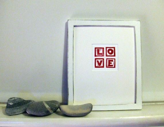 Linocut - A Little Love