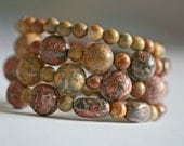 Beautiful Australian Jasper Wraparound Bracelet