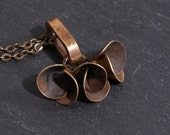 Scoops  Chocolate - Vintage Brass Found Object Necklace by Prairieoats