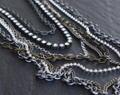 Downpour - Skeleton Key Necklace - Bib Statement - Multi Strand Cascade by Prairieoats