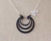 Triple Crown - Crescent Retaining Ring Industrial Hardware Necklace by Prairieoats