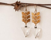 Outrageous Fortune - Urban Gypsy Crystal and Chevron Earrings by Prairieoats