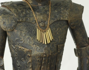 Gladiator - Brass Fringe Necklace by Prairieoats