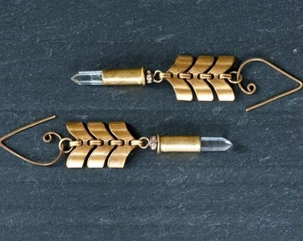 Bullet Chevron Earrings, Mortal Seduction Earrings by Prairieoats