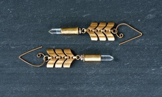 Bullet Chevron Earrings, Mortal Seduction Earrings by Prairieoats