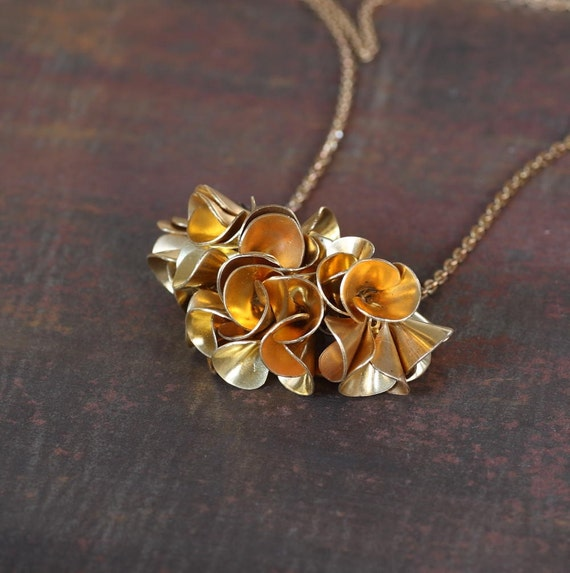 Brass Petticoat - Urban Pioneer Ruffled Fringe Necklace by Prairieoats
