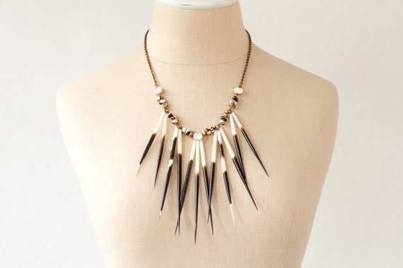 Radiant II - Urban Pioneer Porcupine Quill Necklace by Prairieoats