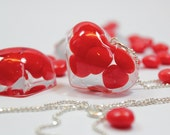 My Valentine Cinnamon Heart Resin Pendant