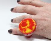 Sz 5 Camp Fire Resin Ring