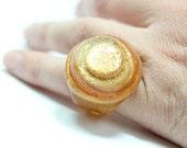 Sz 5 Glitter Glam Rock Resin Ring