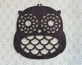Wooden Wall Owl