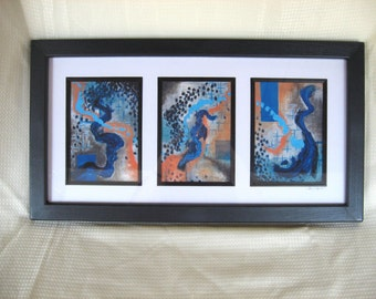 Frames of Thought, Framed 5x7 Tryptych Prints