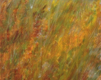 Autumn Rain, Fine Art Giclee Print, 9x12 image in 12x16 mat