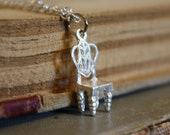 Fairy Tale Necklace - Tiny Princess Chair - A Little Princess