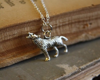 Wolf Necklace - Werewolf Necklace - Little Red Riding Hood - Fairy Tale Necklace