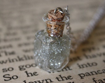 Star Dust Necklace - Starlight in a Vial - Glass Bottle Necklace