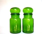 ON SALE Set of Green Apothecary Jars