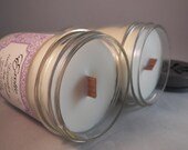 Lavender Soy Candles Wooden Wick Candles Lavender Essential Oil Wooden Wick Candle.