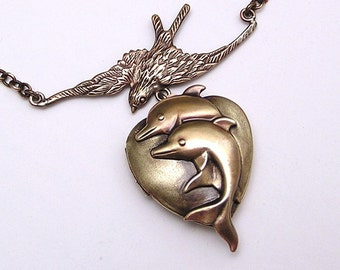 Under the Sea, Dolphin Locket Necklace