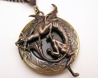 DRAGON LOCKET, Necklace Pendant