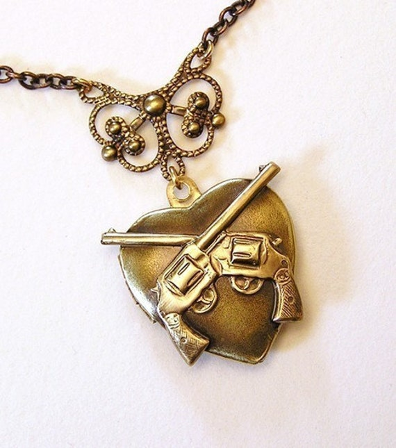 double Guns Slinger, Necklace Pendant