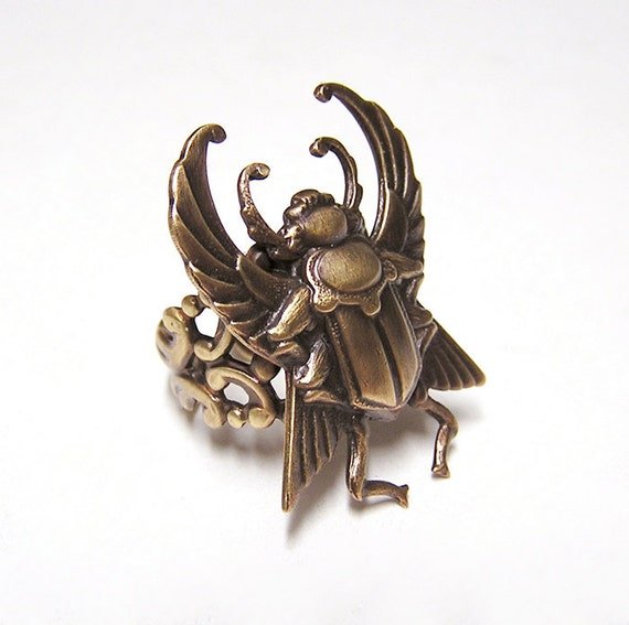 Steampunk SCARAB Beetle Ring