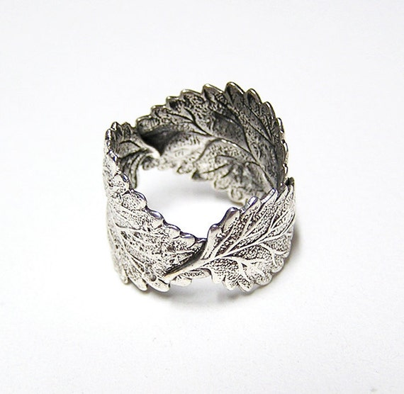 Forest Silver Leaf Ring in sterling silver .925