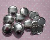 50 19mm Flat Back (Size 30) Self Cover Buttons - DIY Cover Buttons, Flat Backs - AUSTRALIA