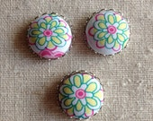 NEW Handmade Liberty Fabric Button Cabochons, Liberty Charms, Size 30 Buttons for You to Create Your Own Jewelry - AUSTRALIA