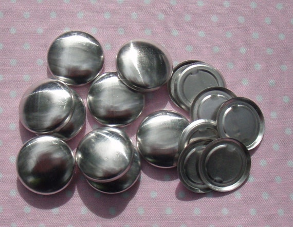 100 19mm Flat Back  (Size 30) Self Cover Buttons - DIY Cover Buttons, Flat Backs - AUSTRALIA
