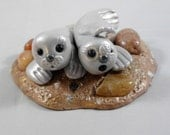 OOAK, Two Adorable Baby Seals, ------Made to Order