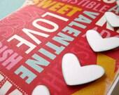 Sweet Love Words - Handmade Greeting Card