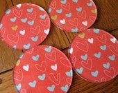 CLEARANCE - My Heart is Full of Love Acrylic Coasters - Set of 4