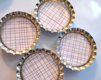 Off the Grid Bottlecap Magnets - Set of 4