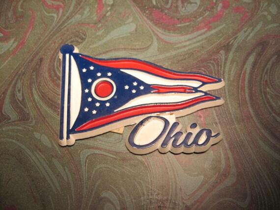 vintage magnet Ohio flag