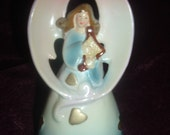 vintage ceramic angel bell