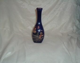 small blue cobalt vase