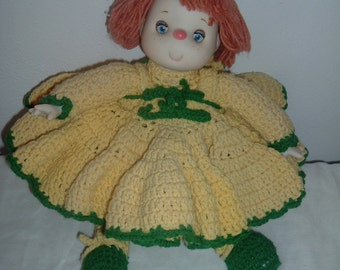 home made crochet doll