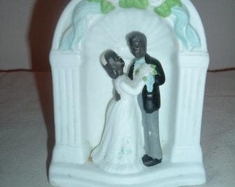 beautiful vintage wedding cake topper