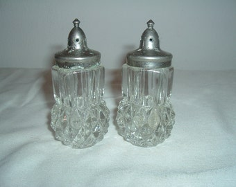 antique crystal salt and pepper shakers