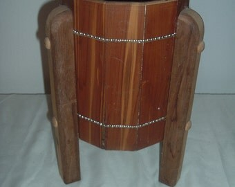 home made wooden plant stand