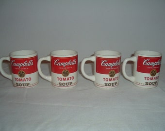 vintage campbells condensed tomato soup cups