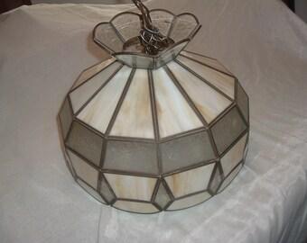 vintage tiffany swag lamp