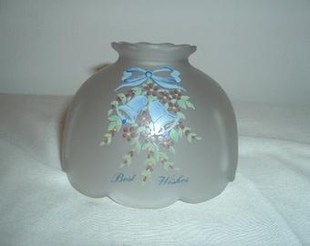 vintage frosted light globe