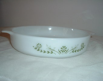 vintage oven proof microwave safe shallow casserole dish