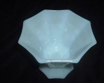 Vintage White Milk Glass Candy Dish/Compote