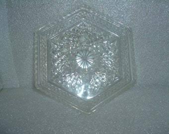 vintage  glass serving dish / relish tray
