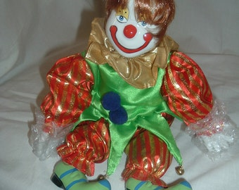 vintage porcelain collectible clown