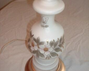 Antique VICTORIAN Hurricane Night Light TABLE LAMP