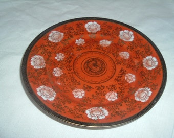 vintage colorful japaness wall hanging plate